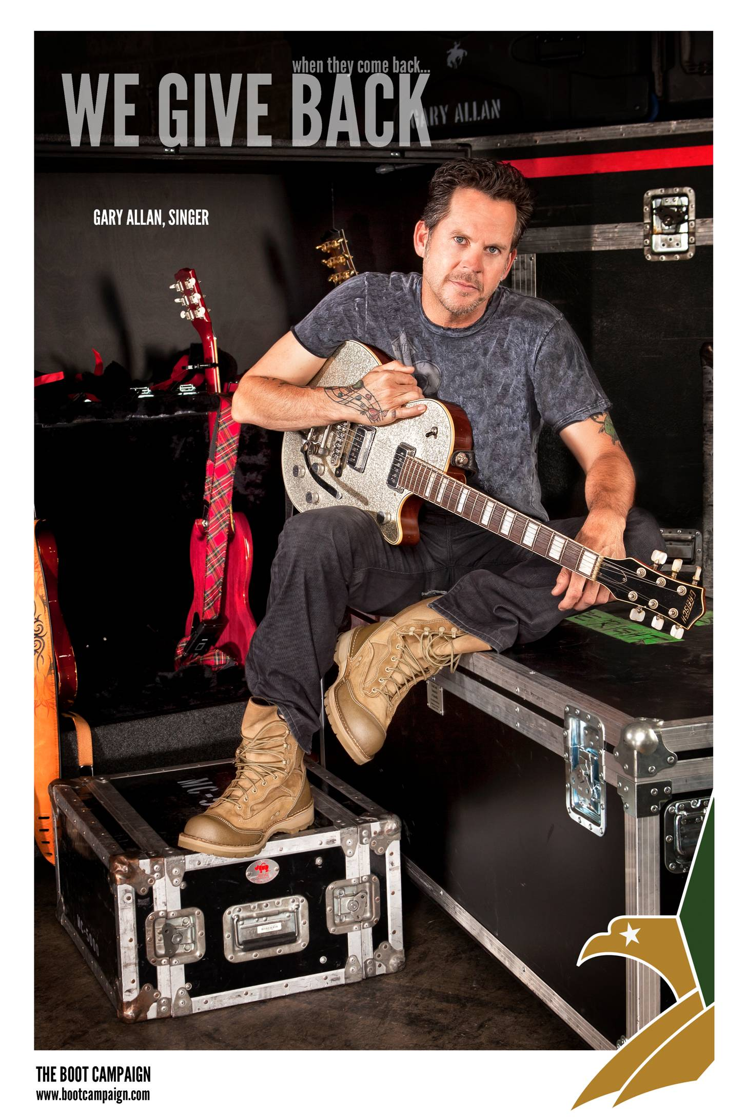 COUNTRY MUSIC SUPERSTAR GARY ALLAN PUTS ON HIS BOOTS IN SUPPORT OF OUR  TROOPS 91396c8f28e2