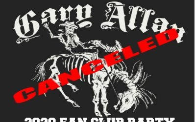 Gary Allan's 2020 Fan Club Party Cancelled Due to CMA Canceled 2020 Festival